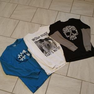 Set of boys long-sleeved T-shirts